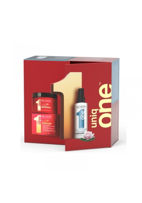 PACK DUO UNIQ ONE (LOTUS FLOWER HAIR TRATMENT + MASK 300ML)
