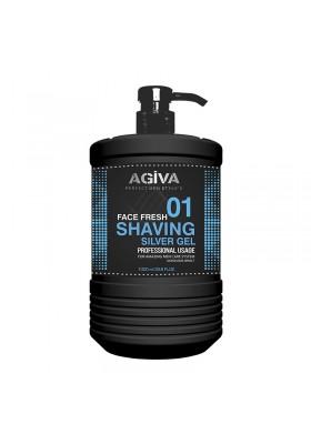 AGIVA SHAVING GEL 1000 ML SILVER