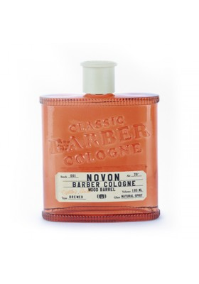 NOVON COLONIA AROMA A BARRIL DE MADERA CLASSIC BARBER COLOGNE WOOD BARREL 185ML