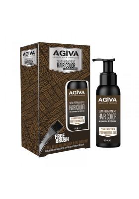AGIVA SEMI PERMANENT HAIR COLOR BROWN 125ML
