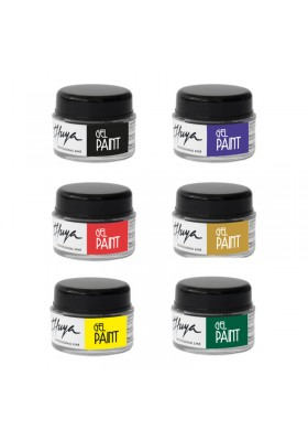 KIT GEL PAINT MODELO B: negro,lila,rojo,oro,amarillo,verde