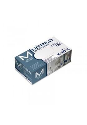 GUANTES NITRILO AZUL 100 UNIDADES TALLA M 7-8