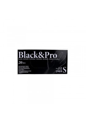 GUANTES BLACK&PRO REUTILIZABLE 20 UNIDADES LATEX TALLA S