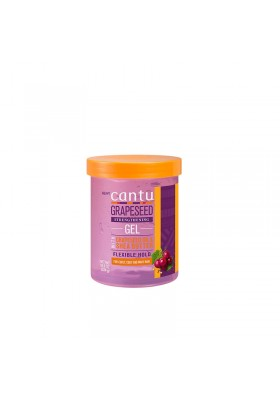 CANTU GRAPESSED OIL AND SHEA BUTTER STREGTHENING GEL FLEXIBLE HOLD 524G