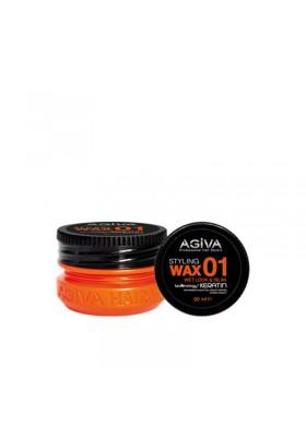 AGIVA HAIR STYLING WAX 01 WET LOOK ORANGE 90ML