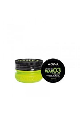 AGIVA HAIR STYLING WAX 03 MAT LOOK GREEN 90ML