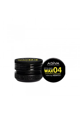 AGIVA HAIR STYLING WAX 04 EXTRA STRONG BLACK 90ML