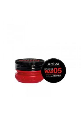 AGIVA HAIR STYLING WAX 05 GUM WAX RED 90ML