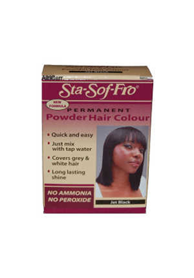 PERMANENT POWDER HAIR COLOUR JET BLACK 6GR