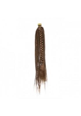 Pelo pluma 40 cm 100% natural - castaño osc.- cobre -